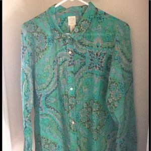 J.Crew limited edition shirt size 12 blue green